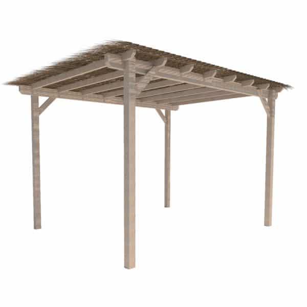 pergola de madera de pino