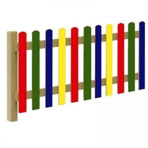 valla de madera de colores