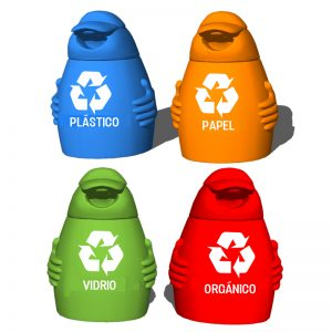 papelera de reciclaje polietileno