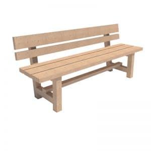 banco rustico de madera
