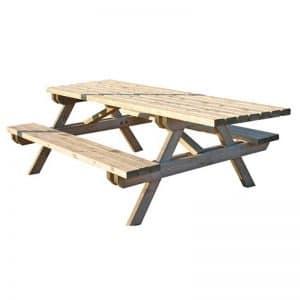 mesa de picnic adaptada para silla de ruedas
