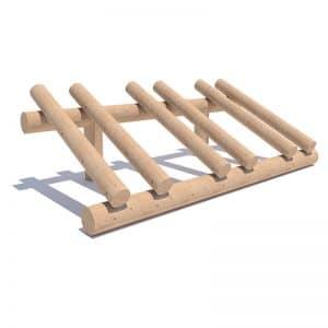 aparcabicicletas de madera