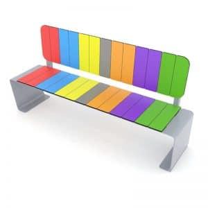 banco parques infantiles colorines