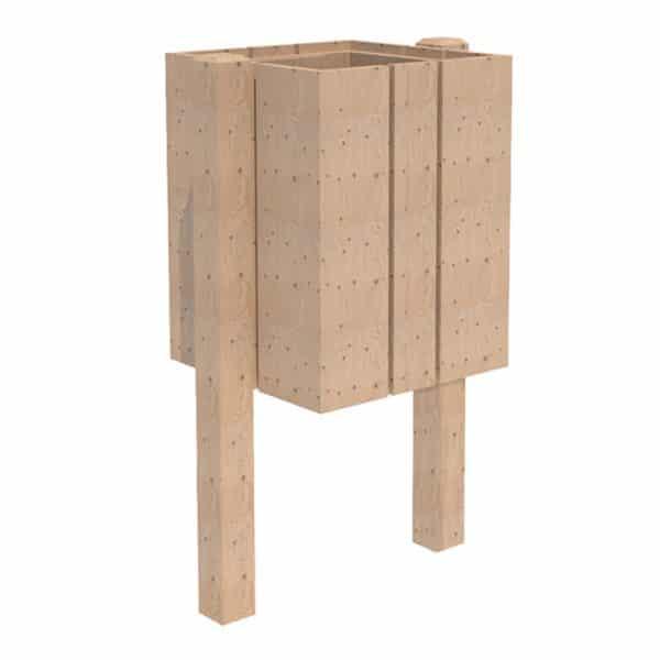 papelera rustica madera
