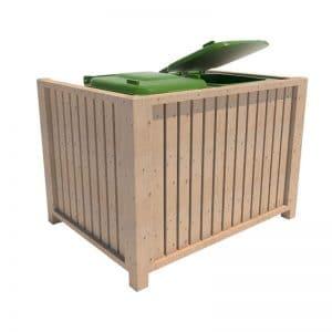 cubrecontenedor de madera