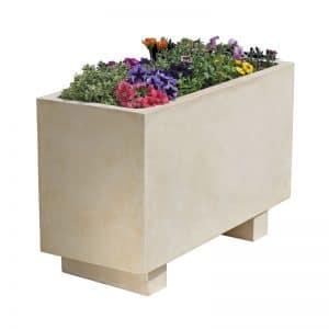 jardinera rectangular de hormigon