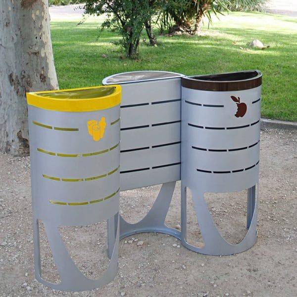 papeleras de reciclaje isla